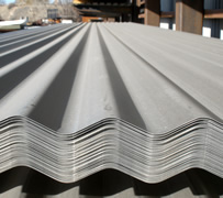 Bare skin for metal roofing