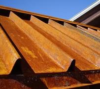 Standing rib metal roofing